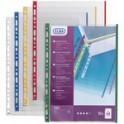 ELBA Pochettes perforées A4 avec bande colorée, PP, 0,09 mm