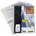 ELBA Pochettes perforées SM3, A4, PVC, 0,10 mm, transparent