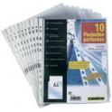 ELBA Pochettes perforées format A4, en PP, 0,08 mm,