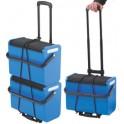 helit boîte mobile avec pot à crayons, bleu/noir