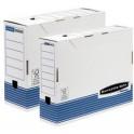 Fellowes boîte d'archives R-Kive PRIMA. blanc/bleu, (L)100mm