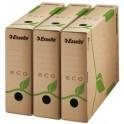 Esselte Boîte d'archives ECO, format A4, marron, dos: 80 mm