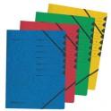 herlitz trieur easyorga, A4, carton, 12 compartiments, vert