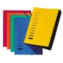 PAGNA trieur, format A4, en carton, 12 compartiments, jaune