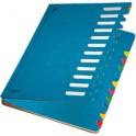 LEITZ Trieur Deskorganizer Color, A4, 1- 12, bleu