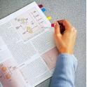 3M Post-it mini dévidoir index design,35 pièces en 4couleurs
