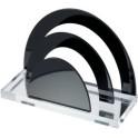 """WEDO porte-lettres """"en acrylique"""", transparent/noir"""