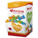 Bonbon en forme de coeur Hellma, présentoir en carton
