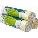 PAPYRUS Secolan Sacs à ordure, avec tirant, blanc, 35 litres
