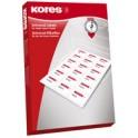 Kores étiquettes pour CD/DVD, diamètre: 117 mm, blanc