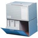 ELBA container d'archives tric, A4 et A3, gris/blanc
