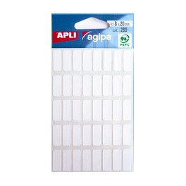 agipa Etiquettes multifonctions, 8 x 20 mm, blanches