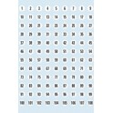 HERMA étiquettes à chiffres 1-240, diamètre: 12mm, en papier
