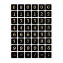 HERMA étiquettes à chiffres 0-9, 13 x 13 mm, film noir