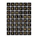 HERMA étiquettes à lettres A-Z, (H)12 mm, film en or