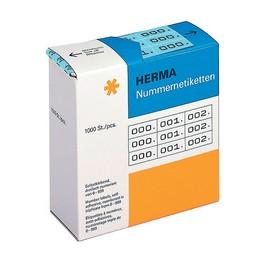 étiquettes numéros 0-999, 10 x 22 mm, noir blanc,HERMA