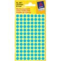 AVERY Zweckform pastilles adhésives, diamètre 12 mm, bleues
