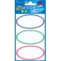 """AVERY Zweckform Z-Design Etiquettes pour ménage """"ovale"""""""