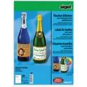 sigel étiquettes bouteilles, 80 x 120 mm, 85 g/m2