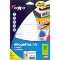 """agipa Etiquettes """"expéditeur/destinataire"""", 65 x 125 mm"""