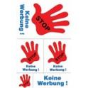 """AVERY étiquette de signalisation """"Stop - Keine Werbung"""""""