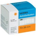 HERMA Etiquettes-adresses, 70 x 38 mm, en continu, blanc