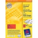 AVERY Zweckform étiquettes universelles, 70 x 37 mm, jaune