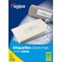 agipa Etiquettes multi-usage, 70 x 50,8 mm, coins droits