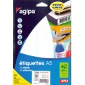 agipa étiquettes multi-usage, 80 x 140 mm, blanches