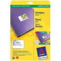AVERY Zweckform étiquettes inkjet glossy, 88,9 x 63,5 mm