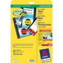 AVERY Zweckform Etiquettes fluorescent, 63,5 x 29,6 mm,rouge
