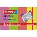 tesa Index repositionnables, couleurs néons, 50 x 20 mm,