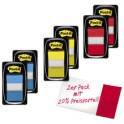 3M Post-it Index notes adhésives, 25,4 x 43,2 mm, pack de