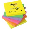 3M cube Post-it, notes adhésives, 76 x 76 mm, 6 couleurs