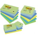 Post-it 3M Notes Rainbow lot 655MTDR, 127 x 76 mm, 6 couleur
