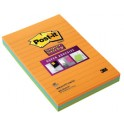 3M Post-it Super Sticky Notes Ultra notes adhésives, 125x200
