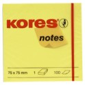 "Kores Notes autocollantes ""jaune"", 76 x 76 mm, vierge, jaune"
