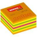 Kores Notes autocollantes, 75 x 75 mm, couleurs néon,
