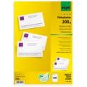sigel carte de visite, 85 x 55 mm, 185 g/m2, extra blanc