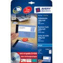 AVERY Zweckform Cartes de visite Quick & Clean, mat, 260g/m2