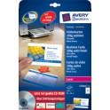 AVERY Zweckform Quick & Clean cartes de visite, satinées
