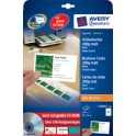 AVERY Zweckform Cartes de visites Quick & Clean, blanc