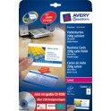 AVERY Zweckform Quick & Clean Cartes de visites, 10 feuilles