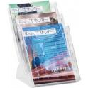 helit Porte-brochures de table à 3 compartiments, format A4
