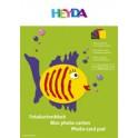 HEYDA Bloc carton couleur, A4, 300 g/m2, couleurs assorties