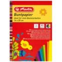 herlitz Bloc de papier de couleur, 280 x 200 mm, 80 g/m2,