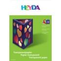HEYDA papier transparent chemise de bricolage, A4, 42 g/m2