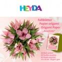 HEYDA feuilles pliantes Origami, (L)150 x (H)150 mm, rose/