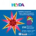HEYDA Papier Origami, transparent, couleur assortis, 40 g/m2
