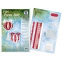 """URSUS bandes en papier design Mini Paper Balls """"Yule"""